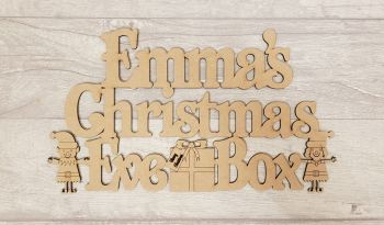 Elf Christmas Eve Box Topper