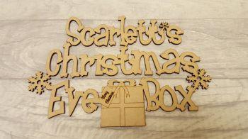 Present Christmas Eve Box Topper