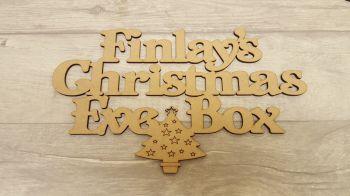 Christmas Tree Christmas Eve Box topper