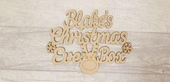 Rudolph Christmas Eve Box Topper