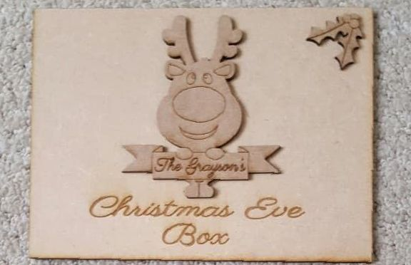 Reindeer Banner Christmas Eve Box Topper