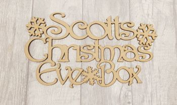 Snowflake Christmas Eve Box Topper 2