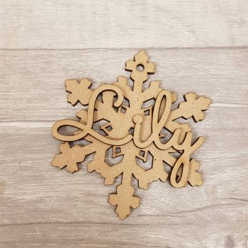 Snowflake with name bauble