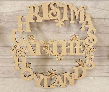 christmas surname wreath