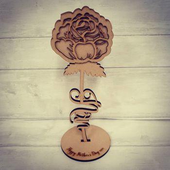 Word Rose (nan/mum/dad/gran/mam/nana)