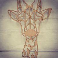 Geo Giraffe Head