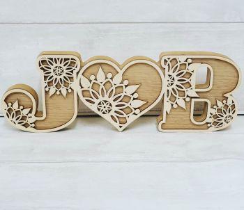 Decorative Heart Initials