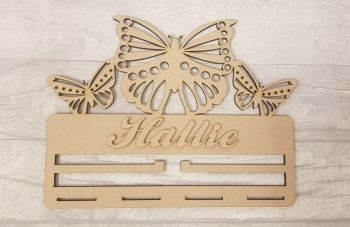 3 Butterfly Bow & Clip Holder