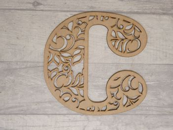 Deco leaf design letters