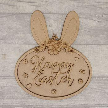 Bunny Ear Oval Plaque