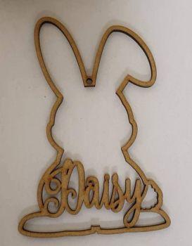 Bent ear bunny hanger