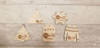 Business Logo Christmas Tags (Sets of 5)