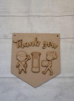 Keyworker Appreciation Bunting - Posties/Couriers