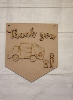 Keyworker Appreciation Bunting - Binmen
