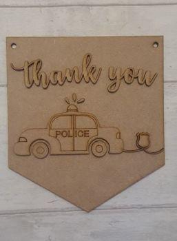 Keyworker Appreciation Bunting - Police