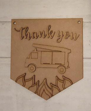 Keyworker Appreciation Bunting - Firefighters