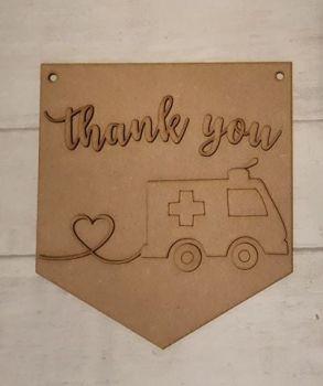 Keyworker Appreciation Bunting - Paramedics