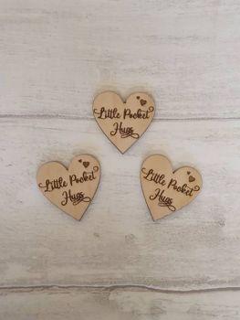 Little Pocket Hugs (heart) (Pack of 50)