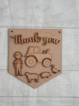 Keyworker Appreciation Bunting - Farmer