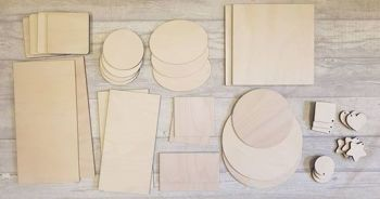 Plywood  Pyrography Bundle (POST INCLUDED ITEM)