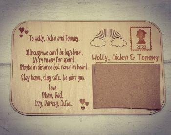 Engraved Postcard