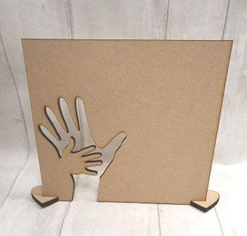 MDF Hand in hand plaque