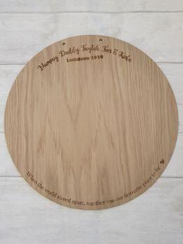 30cm Family Handprint Plaque  (names around the top)