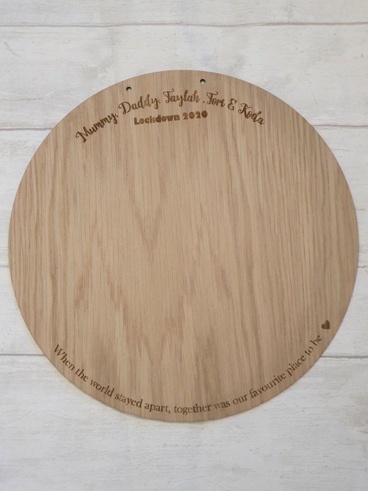 20cm Family Handprint Plaque  (names around the top)