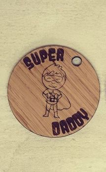 Super Daddy keyring