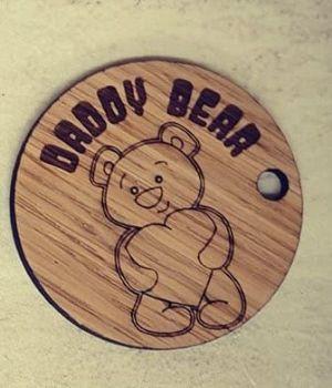 Daddy (teddy) Bear keyring