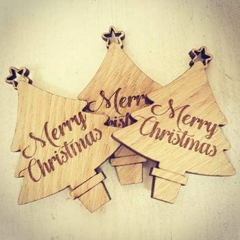 Mini Christmas Tree Tags  (Pack of 50)