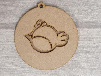 Layered Design Bauble - Robin