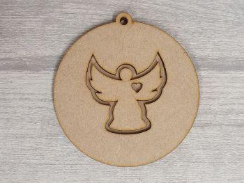 Layered Design Bauble - Angel