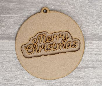 Layered Design Bauble - Merry Christmas
