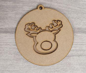 Layered Design Bauble - Reindeer