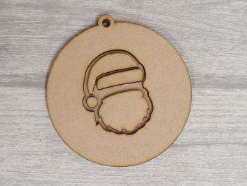 Layered Design Bauble - Santa