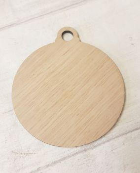 Blank Oak Veneer Bauble - Pack of 10