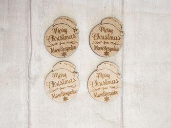 Merry Christmas Logo Tags x10