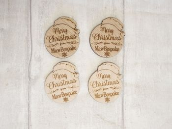 Merry Christmas Logo Tags x50 (POST INCLUDED ITEM)