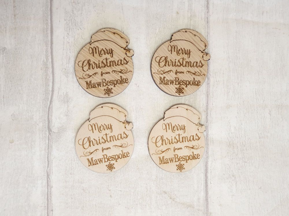 Merry Christmas Logo Tags x100 (POST INCLUDED ITEM)