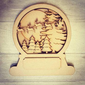 Layered Snowglobe - Santa Sleigh