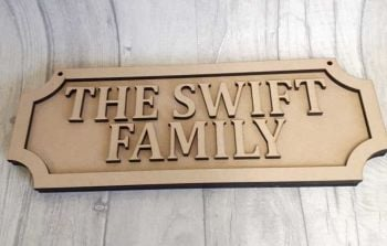 Road Sign 30x15 Double Lined (Freestanding)