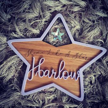 Personalised Name star (Veneer & Acrylic)