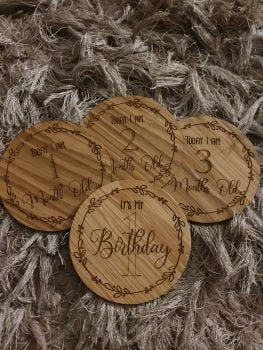 Baby Milestones (Plywood) (POSTAGE INLCUDED)