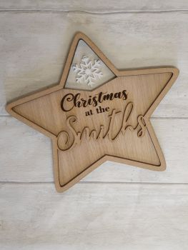 Acrylic & Veneer Christmas at the Star.