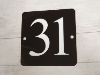 House Number sign (15 x 15cm)