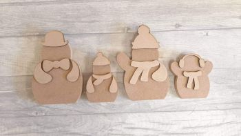 Snowman - Family of 4