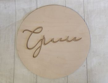 Plywood Name Plaque