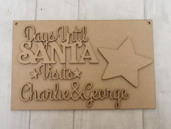 Days until Christmas hanging plaque