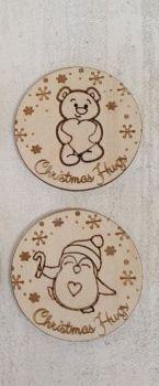 Christmas Hug Token (ply) 50 pack